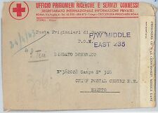 56037 - EGYPT / WWII - POSTAL HISTORY: COVER to P.W. MIDDLE EAST 235   RED CROSS