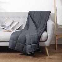 Coperta Ponderata 4.5kg Weighted Blanket 102x152cm Inodore Morbido Sonno natura