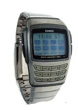 NEW Casio 300 Page E Data Bank Memory Calculator EDB610D-8C Metal Wrist Watch