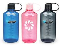 Nalgene 32oz Narrow Mouth Tritan BpA Free Plastic Sports Water Bottle NEW 1Liter