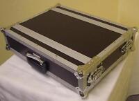 """Effekt-Rack kurz 2 HE 19"""" Flight-Case 24cm tief, Double-Door DJ-Case, Side-Rack"""