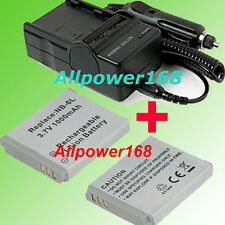 Digital Battery pack + Charger For NB-6L NB6L Canon Rechargeable Lithium-ion