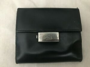 Small Black Leather Gucci Wallet