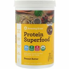 Protein Superfood, Peanut Butter, Amazing Grass 15.5 oz  FREE PRIORITY  EXP 9/21