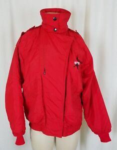 Roffe Tamarack Puffer Cropped 80s 90s Skiwear Red Ski Jacket Parka Womens 6 Knit