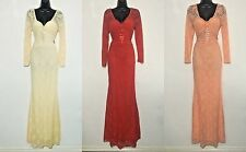 New Ladies Women Prom Evening Party Celeb Long maxi dress Size 8 10 12 14