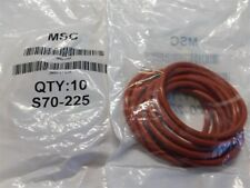 """20 Msc S70-225 1 7/8"""" I.D. x 2 1/8"""" O.D. x 1/8"""" Thick Silicone O-Rings"""