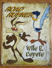 Classic Cartoon Character Looney Tunes Coyote Road Runner Metal Sign Wall Poster