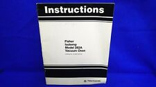 Fisher Isotemp Model 282A Vacuum Oven Instruction Manual