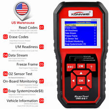 KONNWEI Code Reader I/M Readiness OBD2 Auto Scan Diagnostic Tool EVAP Test Data