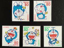 [Japan] Japanese Disney DORA EMON stamps 1997 ~ total 5 pic/ set (Postmark )