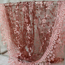13Colors Women Lace Tassel Rose Floral Knit Mantilla Triangle Hollow Scarf Shawl