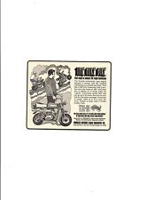 1970 BRONCCO TX-6 MINI-BIKE ~ ORIGINAL SMALLER PRINT AD
