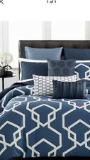 2  Hotel Collection IMPERIAL 100% Cotton Euro Quilted Shams-Indigo Blue $200