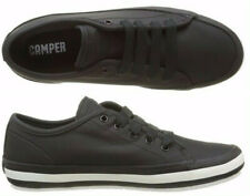 Womens Camper Portol Black Leather Shoes Casual Sneakers NEW