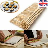 Bamboo Sushi Maker Rice Roll Mold Kitchen DIY Mould Roller Paddle Rolling Mat UK