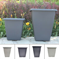 Tall High Quality Modern Garden Flower Pot Patio Rattan Pots Planter Home Square