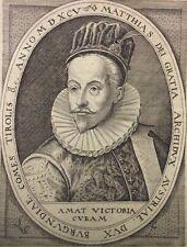 Matthias Ier de Habsbourg Matthias II Roi de Hongrie et Croatie Cornelisz XVI