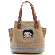 Betty Boop Camel Beige Leather Shoulder Style Purse