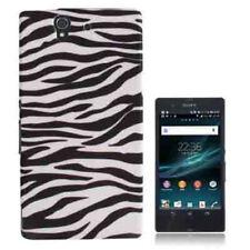 TPU Case Schutzhülle für Sony xperia Z Zebra Style schwarz weiß Hülle Backcover