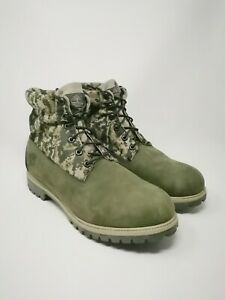 Men's Timberland Green Camo Suede Hiking boots UK Size 11