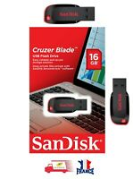 Clé USB 2.0 SanDisk Cruzer Blade 16 Go SDCZ50-016G-B35