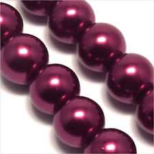 20 beads Pearly 10mm Red Garnet glass Bohemian