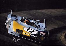 Reinhold Joest SIGNED 12x8  Porsche 908/03  Nurburgring 1000kms 1974