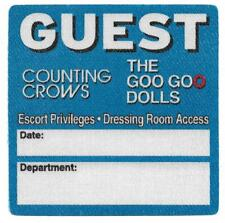 Counting Crows / The Goo Goo Dolls Guest Back Stage Pass rock music band sticker