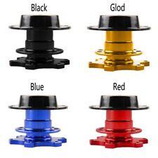 Racing Car Quick Release Snap Off Steering Wheel Hub Adapter Black Kit Universal