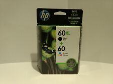 New GENUINE HP 60XL Black/60 TriColor Multi-pack (RETAIL BOX) 7/-8/2017