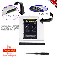 New Universal 2nd HDD SSD Hard Disk Drive Caddy Adapter Pata IDE to SATA 12.7 mm