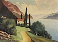 Signed - Lake IN Italy Switzerland? Lake Garda ? Lago Maggiore?