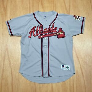 100% Authentic Greg Maddux Russell Athletic Braves Jersey Size 48 XL Mens