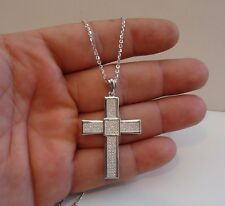 925 Sterling Silver Micro Pave Pendant Cross