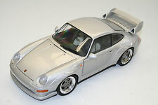 MODELLAUTO 1 : 18: PORSCHE 911 GT 2, silbermetallic, UT MODELS, TOP! 057