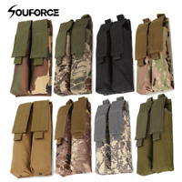 Airsoft Molle Double Camo Military Magazine Pouch Coyote For P90/UMP
