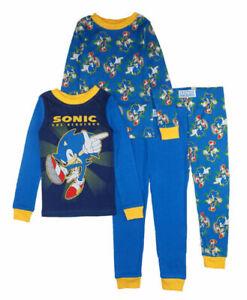 Sonic The Hedgehog Little/Big Boys 4pc Pajama Pant Set Size 4 6 8 10