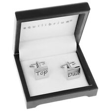Equilibrium Mens silver Cufflinks top dad wedding gift suit fathers day present