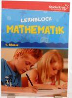 Lernblock Mathematik + Mit Lösungen + Rechnen Training Profi Nachhilfe 4.Klasse