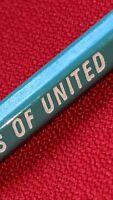 United Airlines Pencil Blue 2 2/4 Used Vintage Bonded Hex with Eraser & Ferrule