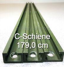 2 x C - Schiene 179 cm / Kabine / Shelter / Bundeswehr / Befestigung / ALU