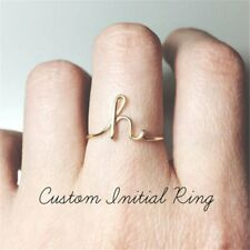 Unisex Gold Letters Initial Name Ring Creative Finger Knuckle Ring Jewelry Gifts