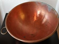 "Large Heavy Copper Bowl 10 1/2"" X 5"" Inches Deep"