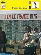 FICHE CARD: Open de France (HNA Open) Vincent Tshabalala Trophée 1976 GOLF 1970s