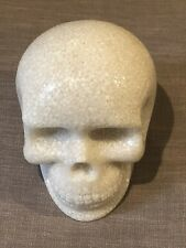 Halloween Heavy Milk Glass Life-Size Skull Prop Object