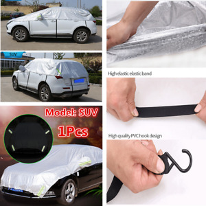 Universal Car Half Body Sun Shade Waterproof Cover Sunscreen UV Dust Cover SUV