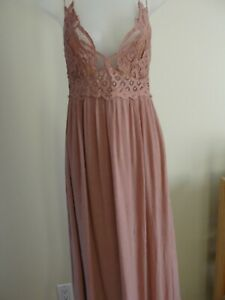 Intimately Free People Women's Lace dress,small,rose
