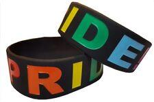 Lesbian Gay Rainbow Pride Silicon Rubber Wristband