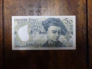 France 50 Francs 1976-1992 Quentin de La Tour 1981 UNC